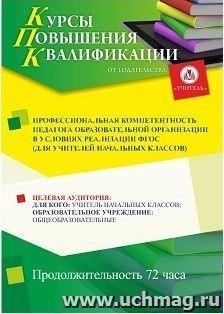 Профессиональная компетентность педагога образовательной организации в условиях реализации ФГОС (для учителей начальных классов)