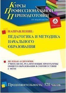 Педагогика и методика начального образования (520 ч.)