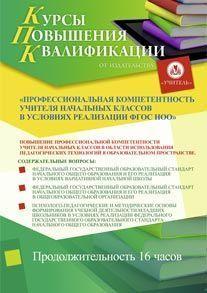Профессиональная компетентность учителя начальных классов в условиях реализации ФГОС НОО