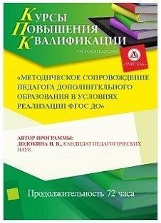 Методическое сопровождение педагога дополнительного образования в условиях реализации ФГОС ДО (72 часа)