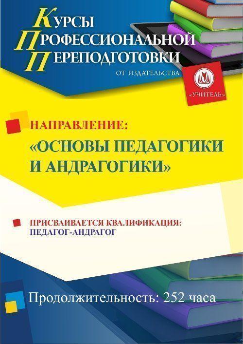 Основы педагогики и андрагогики. Присваивается квалификация «Педагог-андрагог» (252 ч.) фото