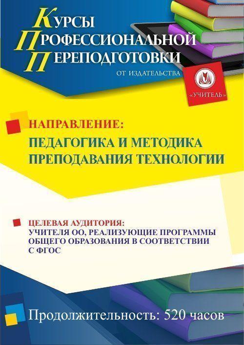 Педагогика и методика преподавания технологии (520 ч.) фото