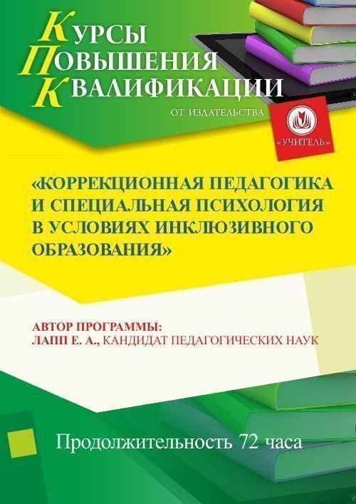 Коррекционная педагогика и специальная психология в условиях инклюзивного образования (72 ч.) фото
