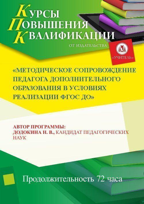 Методическое сопровождение педагога дополнительного образования в условиях реализации ФГОС ДО (72 ч.) фото