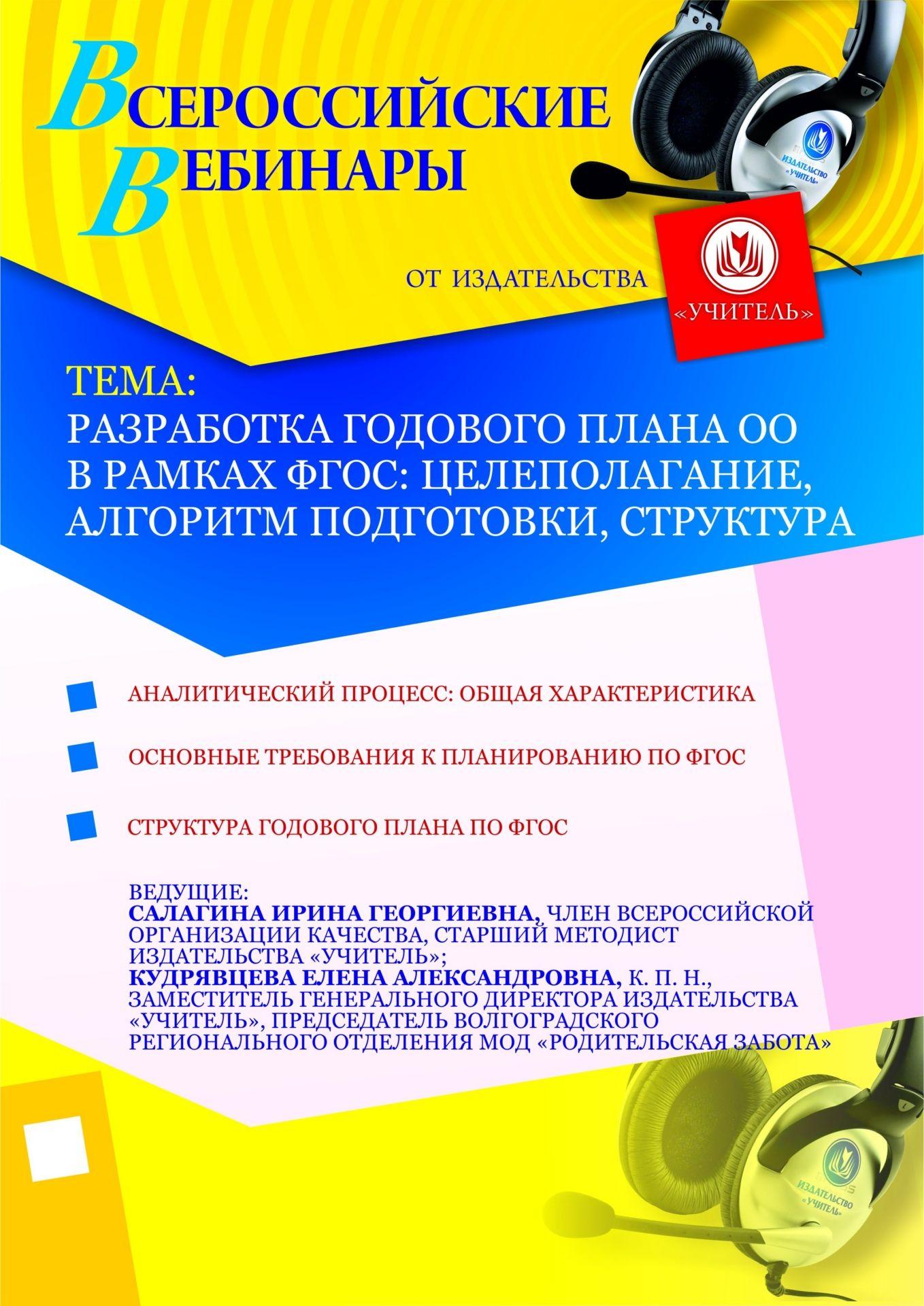 Разработка годового плана ОО в рамках ФГОС