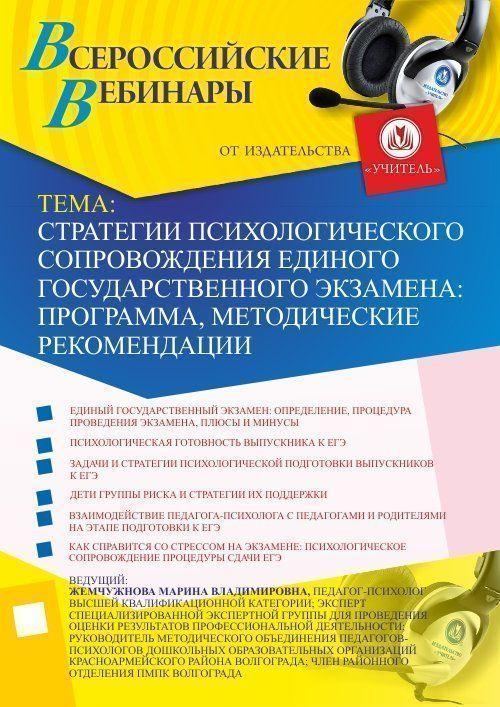 Стратегии психологического сопровождения единого государственного экзамена: программа, методические рекомендации фото