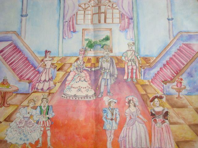Картинки бал во дворце рисунки